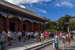 中国,北京 宫殿仁爱和长寿Renshoudian -霍尔  免版税图库摄影