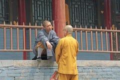 中国,少林- 2012年4月11日 少林寺的修士, 库存图片
