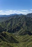 中国,居庸关 美丽如画横向的山 免版税库存照片
