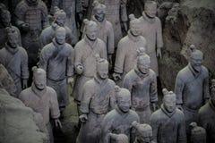 中国,羡- 3月14 :砰地作声马勇, 3月的14日赤土陶器军队 免版税图库摄影