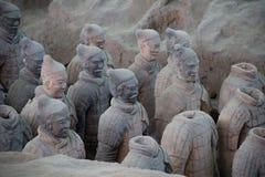 中国,羡- 3月14 :砰地作声马勇, 3月的14日赤土陶器军队 库存照片