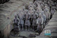 中国,羡- 3月14 :砰地作声马勇, 3月的14日赤土陶器军队 库存图片