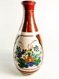 中国绘了陶瓷花瓶 免版税库存照片