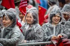 中国活动家的一次平安的示范在华盛顿 免版税库存照片