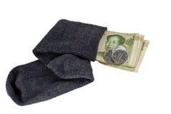 中国货币袜子 库存照片