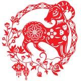 中国年幸运的绵羊羊羔 免版税库存照片