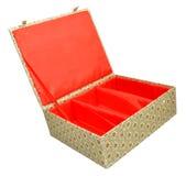 中国织物覆盖的箱子 库存图片