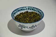中国绿茶 免版税库存照片