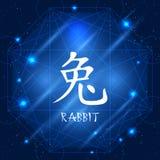 中国黄道带标志兔子 库存照片