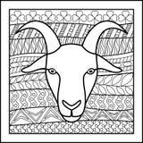 中国黄道带标志山羊 库存图片
