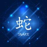 中国黄道带标志蛇 免版税库存照片