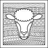 中国黄道带标志绵羊 库存图片