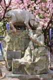 中国黄道带猪雕象的12个动物 免版税库存照片