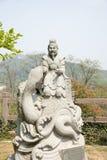 中国黄道带的12个动物曲折前进雕象 免版税库存照片