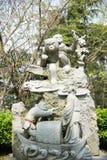 中国黄道带的12个动物胡闹雕象 免版税库存照片