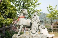 中国黄道带马雕象的12个动物 免版税库存图片
