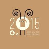 中国黄道带2015年-绵羊(Ram,山羊的年 免版税库存图片