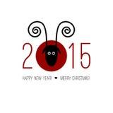 中国黄道带2015年-绵羊(Ram,山羊的年 图库摄影