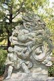 中国黄道带Loong雕象的12个动物 库存图片