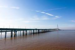 中国` s杭州湾跨海大桥 免版税库存照片