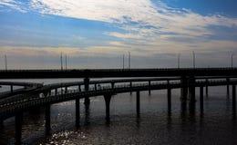 中国` s杭州湾跨海大桥 图库摄影