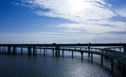 中国` s杭州湾跨海大桥 库存照片