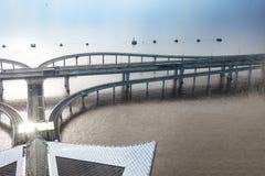 中国` s杭州湾跨海大桥 免版税图库摄影