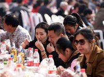 中国` s江苏省:hongze湖镇,可口食物一个小镇  免版税图库摄影