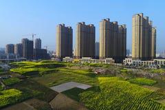 中国` s都市和农村解决 库存照片