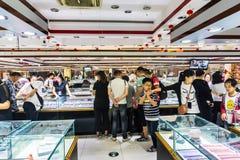 中国` s水晶工艺品商店 免版税图库摄影