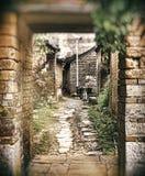 中国acient村庄 免版税图库摄影