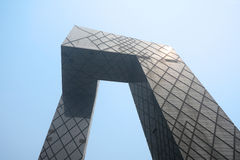 中国CCTV新的站点 库存照片