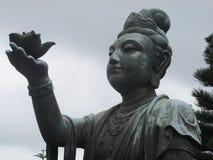 中国femaile雕象 免版税图库摄影