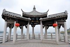 中国guangjiqiao古老建筑学 库存照片