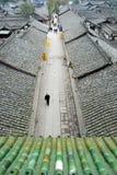 中国langzhong老城镇 库存照片