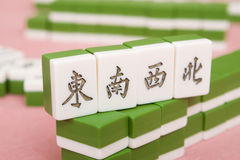 中国mahjong 免版税库存图片