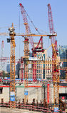 中国Zun建筑坑,北京,中国 库存照片