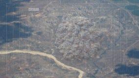 击中在地面的导弹炸弹目标 库存例证