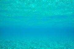 水中在马尔代夫 免版税库存照片