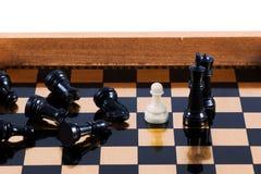 中坚分子的棋典当 库存图片