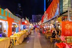 中央世界广场美好的前面轰隆街市的  免版税库存照片