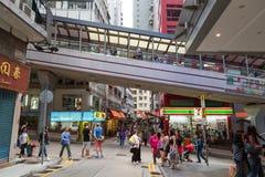 中央中间级自动扶梯在香港 库存图片