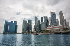 中央事务Distric在新加坡 库存照片
