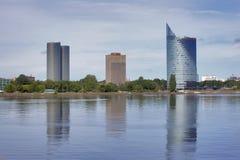 中央修造的Swedbank在里加,拉脱维亚 库存图片