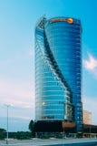 中央修造的Swedbank在里加,拉脱维亚 库存照片