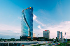 中央修造的Swedbank在里加,拉脱维亚 图库摄影