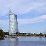 中央修造的Swedbank在里加,拉脱维亚 Swedbank有9 5百万个零售顾客和622,000名公司顾客在瑞典, E 库存图片
