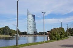 中央修造的Swedbank在里加,拉脱维亚 Swedbank 免版税库存图片