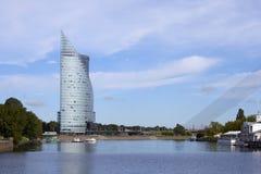 中央修造的Swedbank在里加,拉脱维亚 Swedbank 免版税库存照片