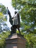 中央公园克里斯托弗・哥伦布雕象 免版税库存图片